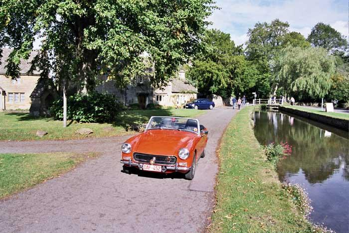 1971 Austin sprite bought around Halloween time in 2000, hence her nickname