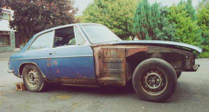 This 1969 car is to become my V8. Not too promising at present!