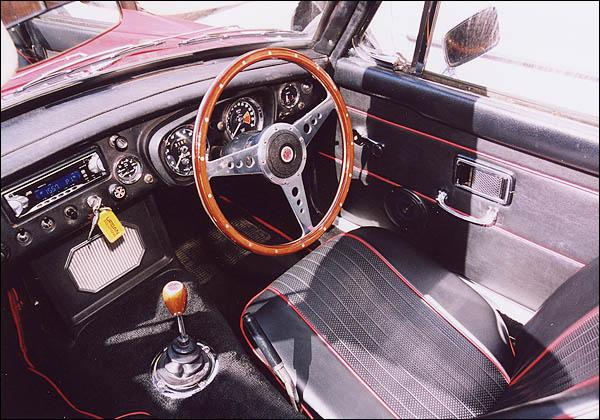 Interior with Moto-Lita wheel fitted