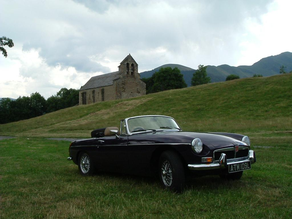 My '72 hertige shell roadster in August 2004 in a mood at Pyrenean lunch stop.