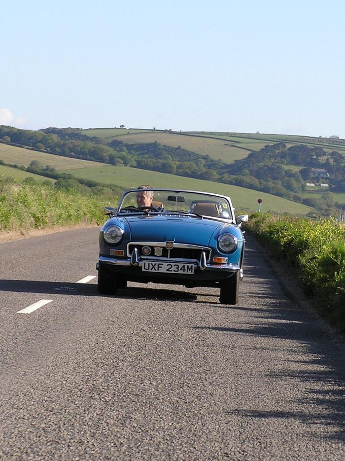 My mate Rob in his MGB which he has owned from new