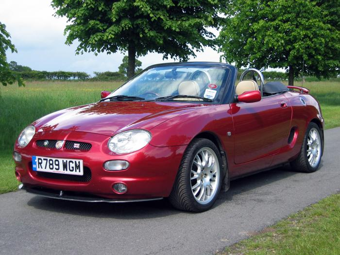 My MGF at Bentley in 2003.