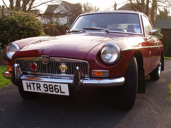 Our first MGB GT, which we've owned since July 05.