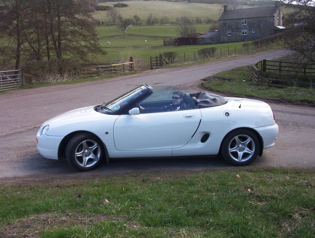 Easter 2006 with my MGF 1.8VVC in Northumberland with youngest son.