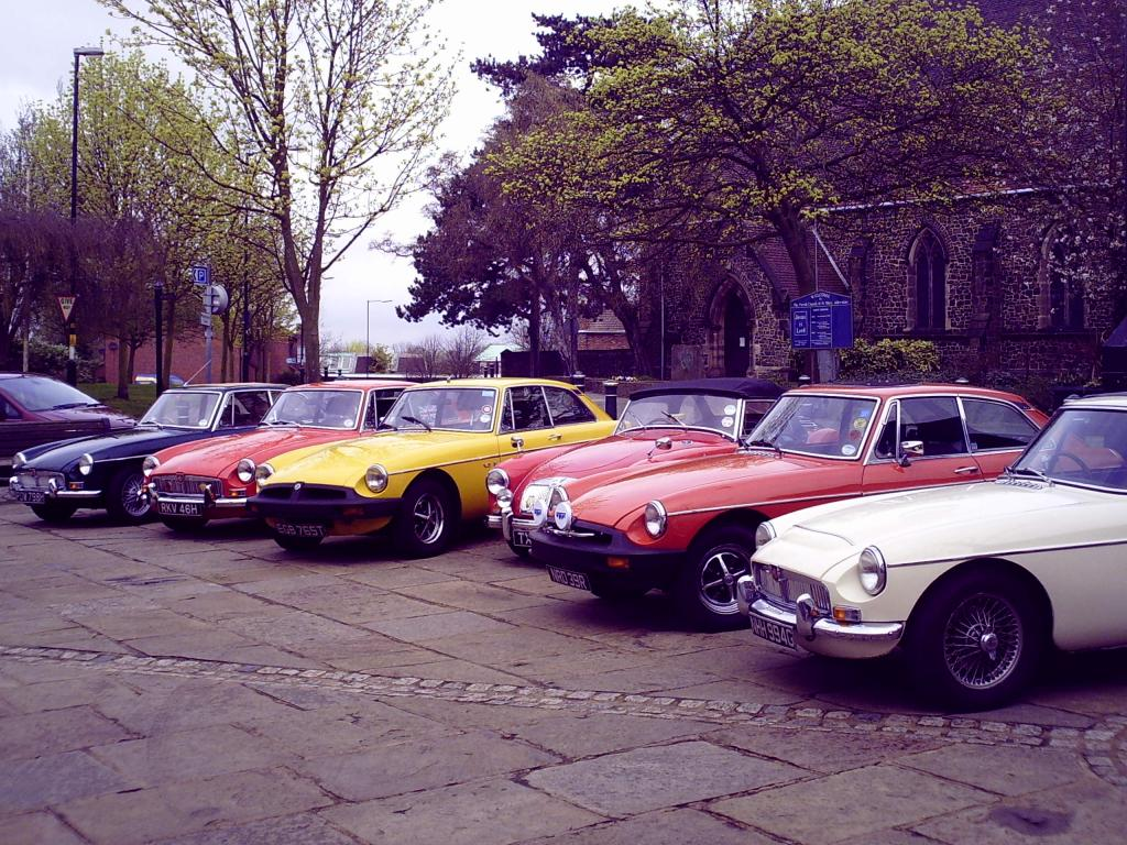 Ah bless! Alan in the MGA is the only one that cant park properly!