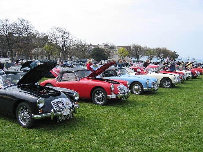MGA's at the Concours competition