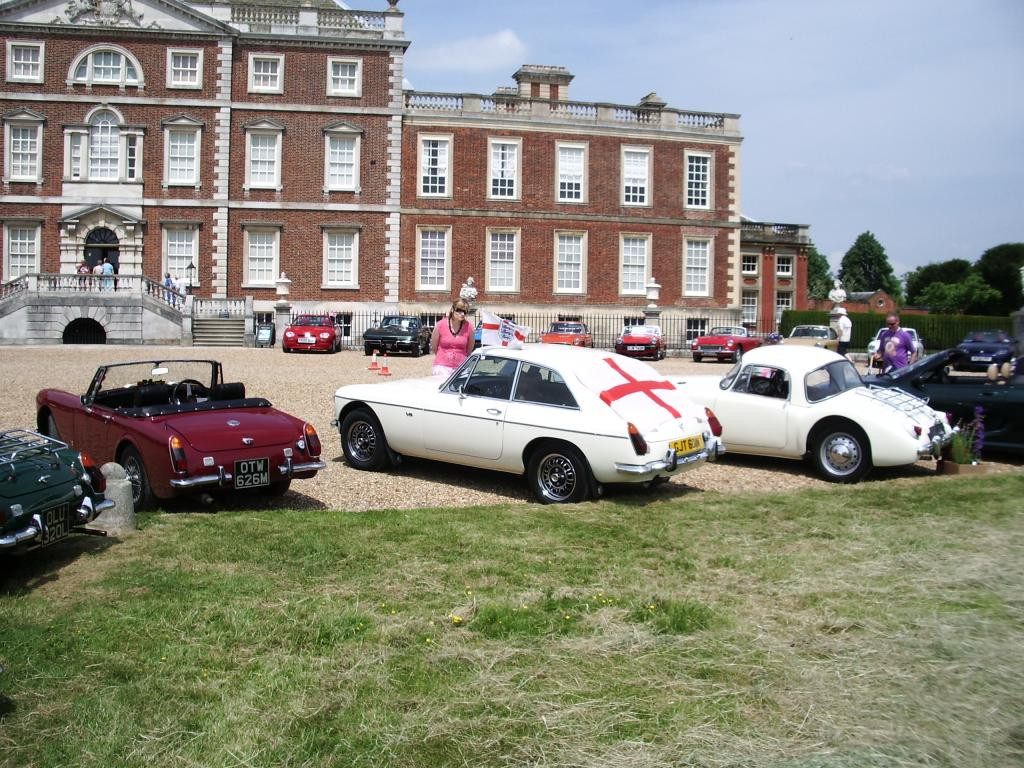 Sunday 11th June. MG's enjoying the sun at the Eastern region Gathering and Picnic at Wimpole hall (What a great day!)