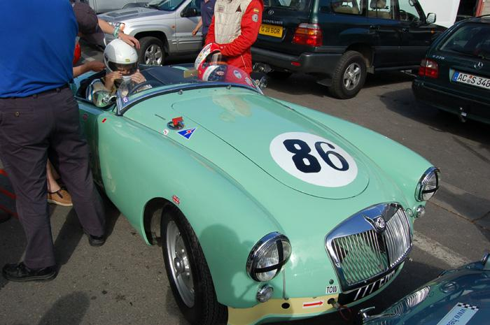 RAC Woodcote Trophy - MGA in the paddock, right before the start