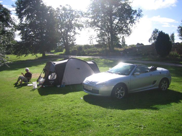 MG TF used for its first camping expedition, August 2006