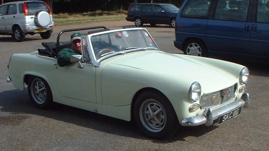My 1969 Midget 'ROSIE', still going strong in Bushey Park, 2006