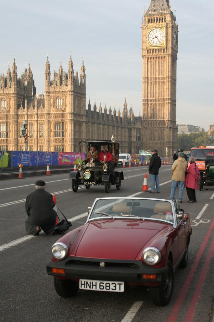 On Westminster Bridge for the 2006 London to Brighton Run