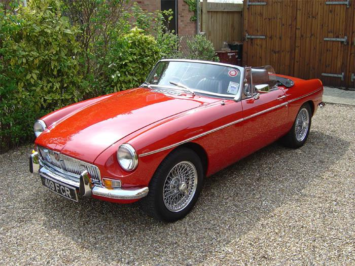 This car first registered 1st August 1975 - Reg No. LGB 838P had a complete rebuild over 3 years starting in 1996. During the rebuild the car was converted to Chrome Bumper Reregistered in November 1999 419 FCR Colour Flame Red15 inch Chrome Wire Wheels - Spax gas filled suspension front and rear.Converted to unleaded, electronic ignition, sports coil, K&N filters. Overdrive. Stainless Steel exhaust.Leather seating and trim - Motolita steering wheel – Converted from two 6v batteries to single 12v.