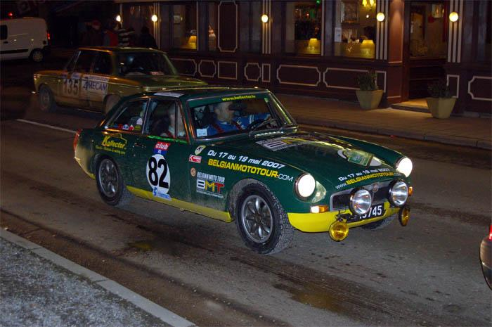 MG BGT driven by Christian Juspin during recoup in Spa
