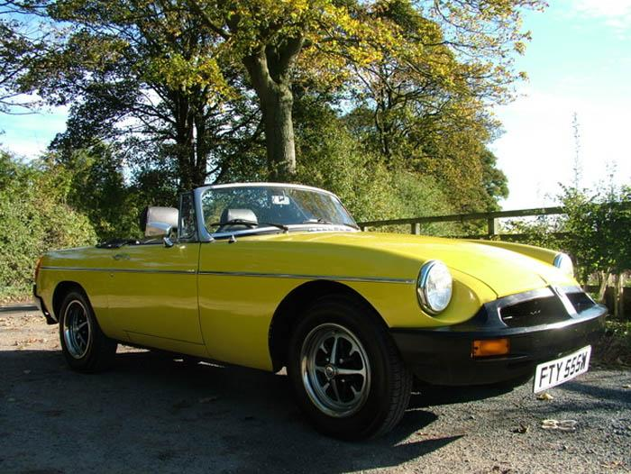 Totally orginal 1980 MGB in snapdragon yellow