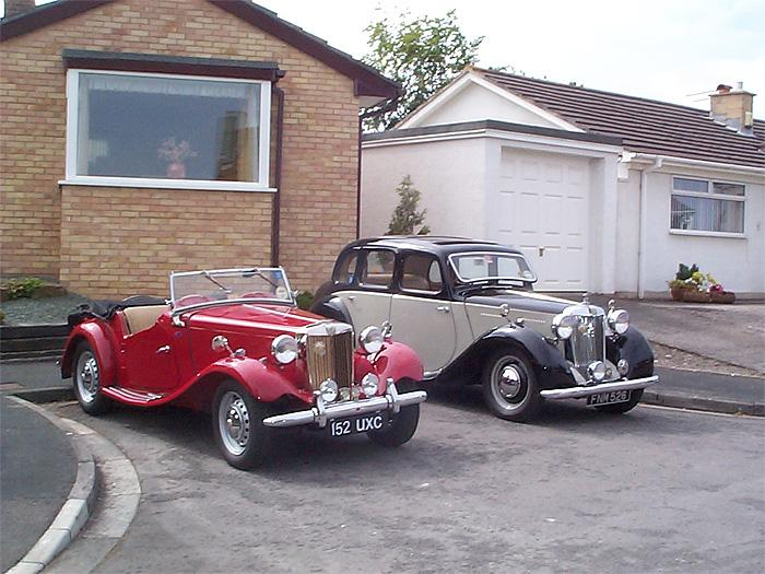 The Wright family MG's after Adam's 1952 American imported TD was fettled and joined Dad's 1947 YA