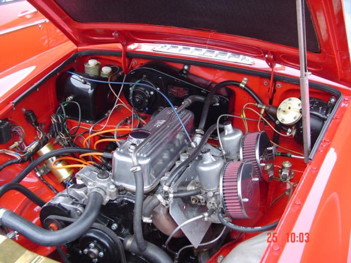 Engine bay with the new power pack