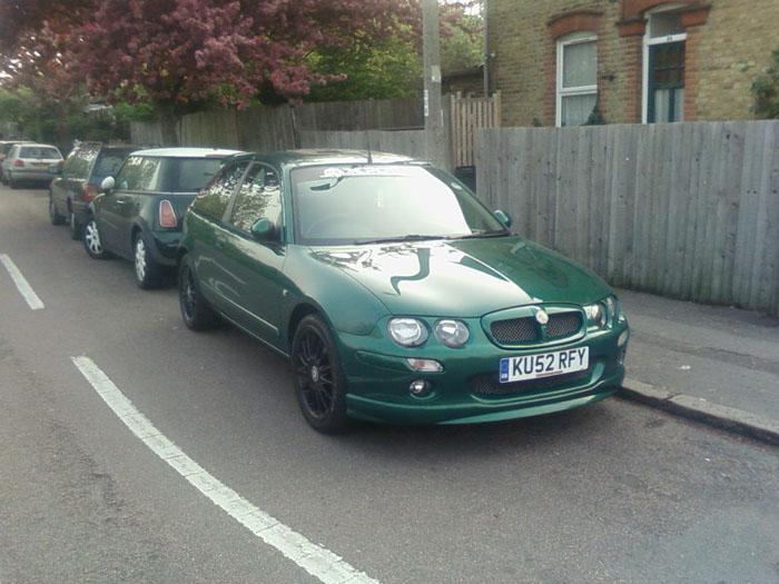 This is my lovely MG ZR +120