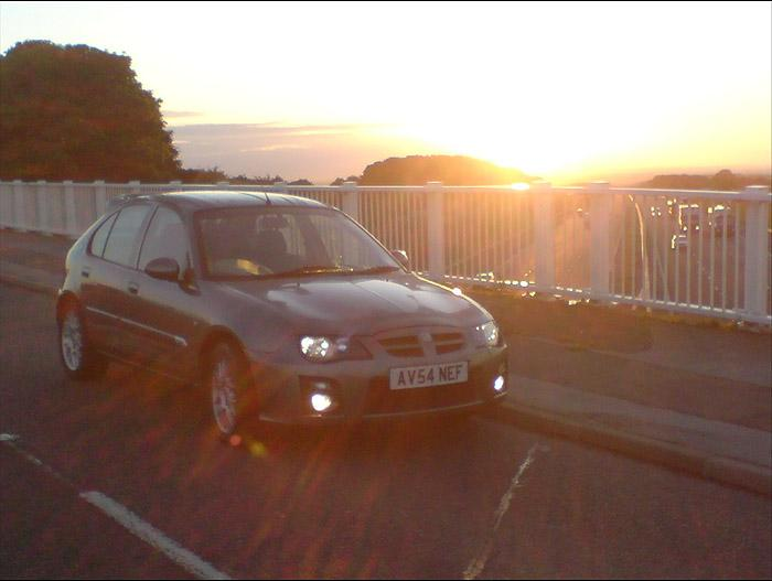 Sunrise 5am over the M18 near Doncaster