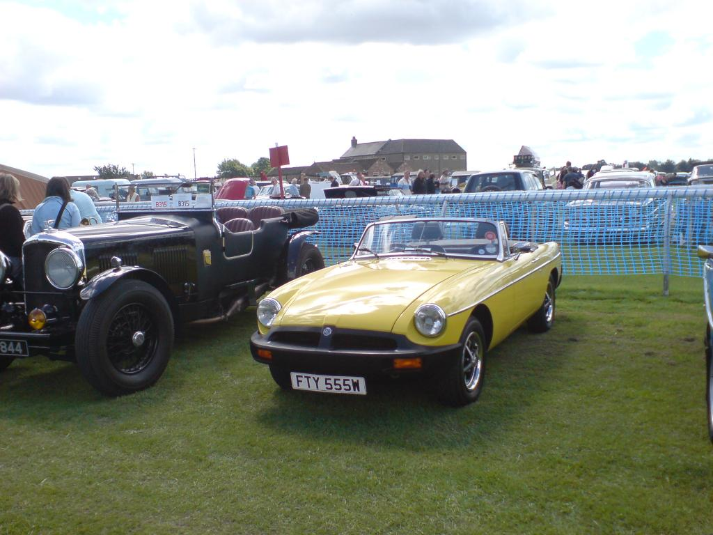 On show at Ripon Old Cars. Ripon racecourse July 2007