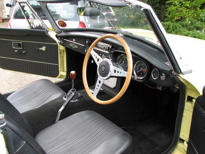 The interior of my newly renovated 1970 MGB roadster.