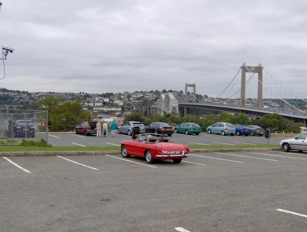 1970 Flame Red B on a Sunday outing to Looe