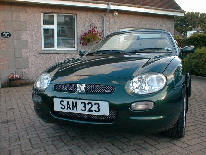 2002 MGF 1.8i in British Racing Green with Cream/Walnut wood and leather interior and chrome pack.