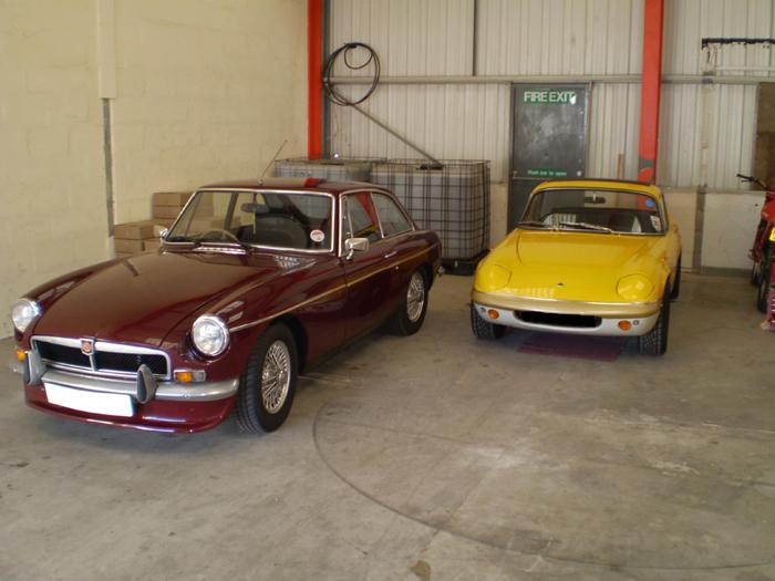 My first BGT, in good company next to my dad's beloved Elan.