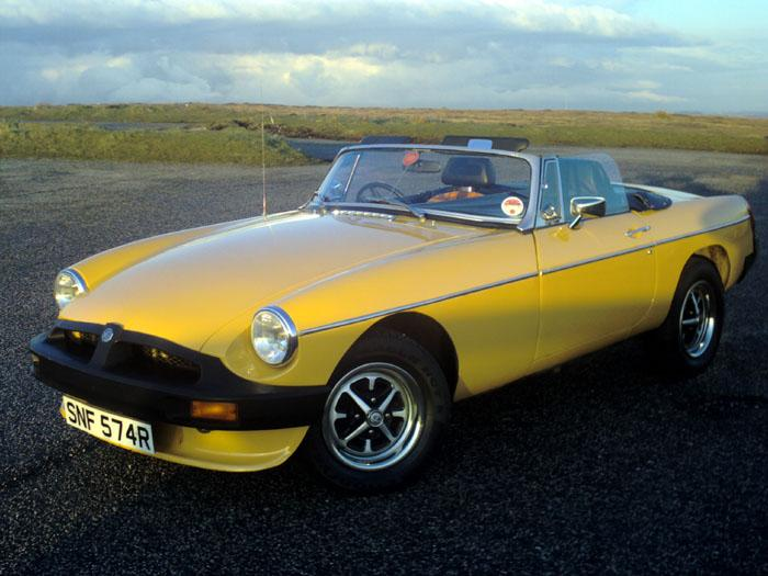 Phil Browns 1977 MGB Roadster at Blackstone Edge April 2008