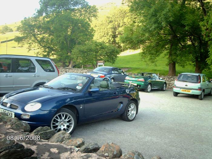 In the car park at Grasmere, Lake District.