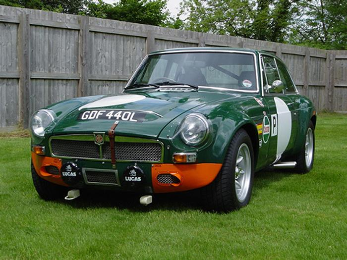 1973 MGB GT built to recreate the look of MBL 546E as raced in 1968 at the Sebring 12hrs