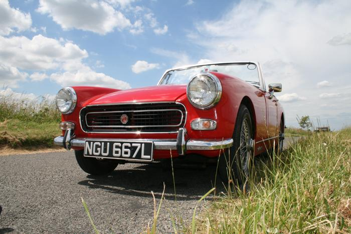 My MG 1972 RWA Midget after a hard day on a photo shoot with a Triumph Spitfire