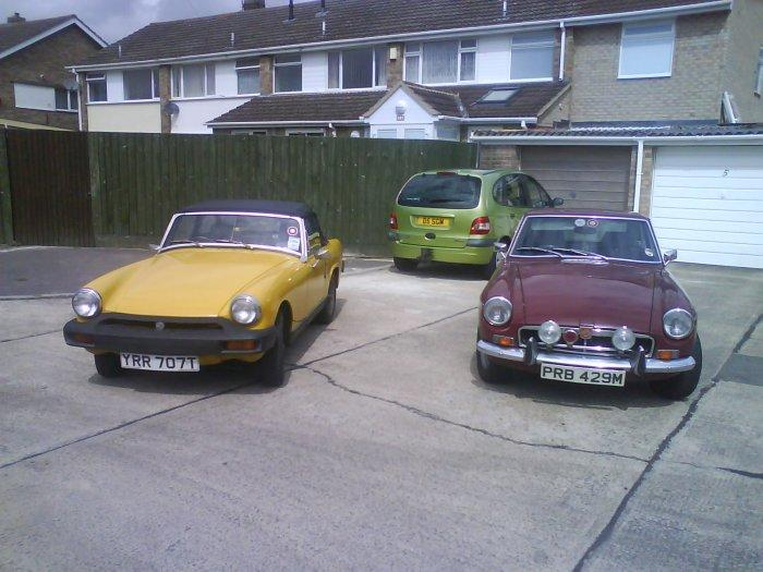 My 1978 1500 Midget and 1973 MGB GT.