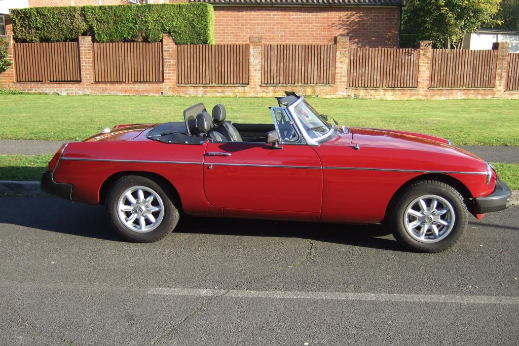 MGB Roadster. First registered in 1976. Has had a full nut and bolt restoration.