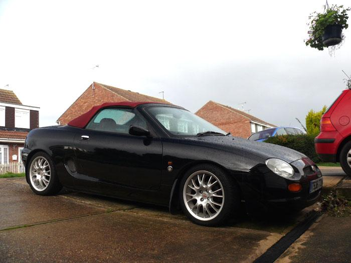 My MGF 75LE, newly arrived on my drive in Clacton-on-Sea