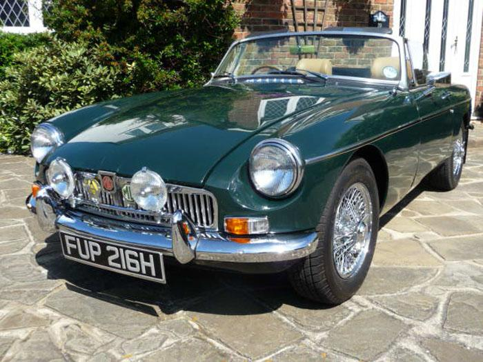 Latest addition (no. 4) to my MG fleet - MGB Roadster (1969) (acquired July 2010) - gleaming in the Summer sunshine.