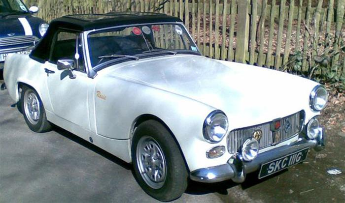 1968 MG Midget, after completed refurbishment with a Bermuda hardtop in place.