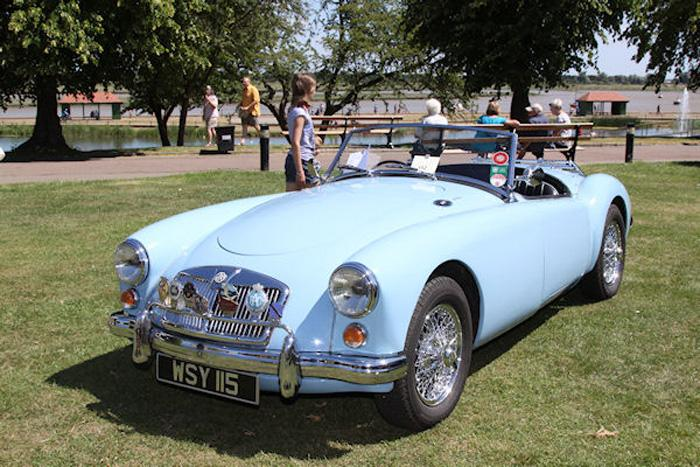 1959 Iris Blue MGA roadster