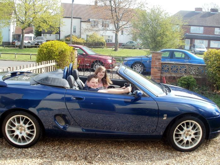Two young MG drivers