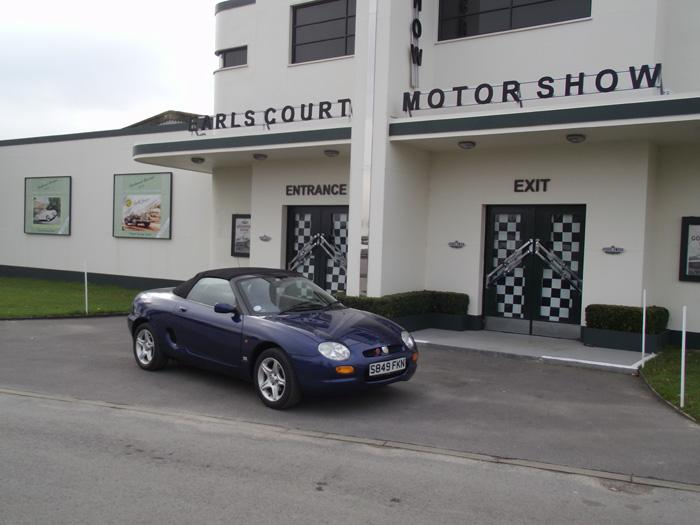 MGF outside the motorshow at Goodwood