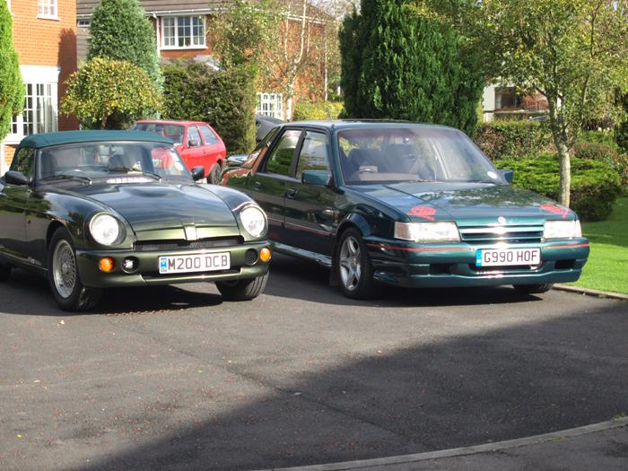MGRV8 & MG MONTEGO TURBO share home in Lancashire
