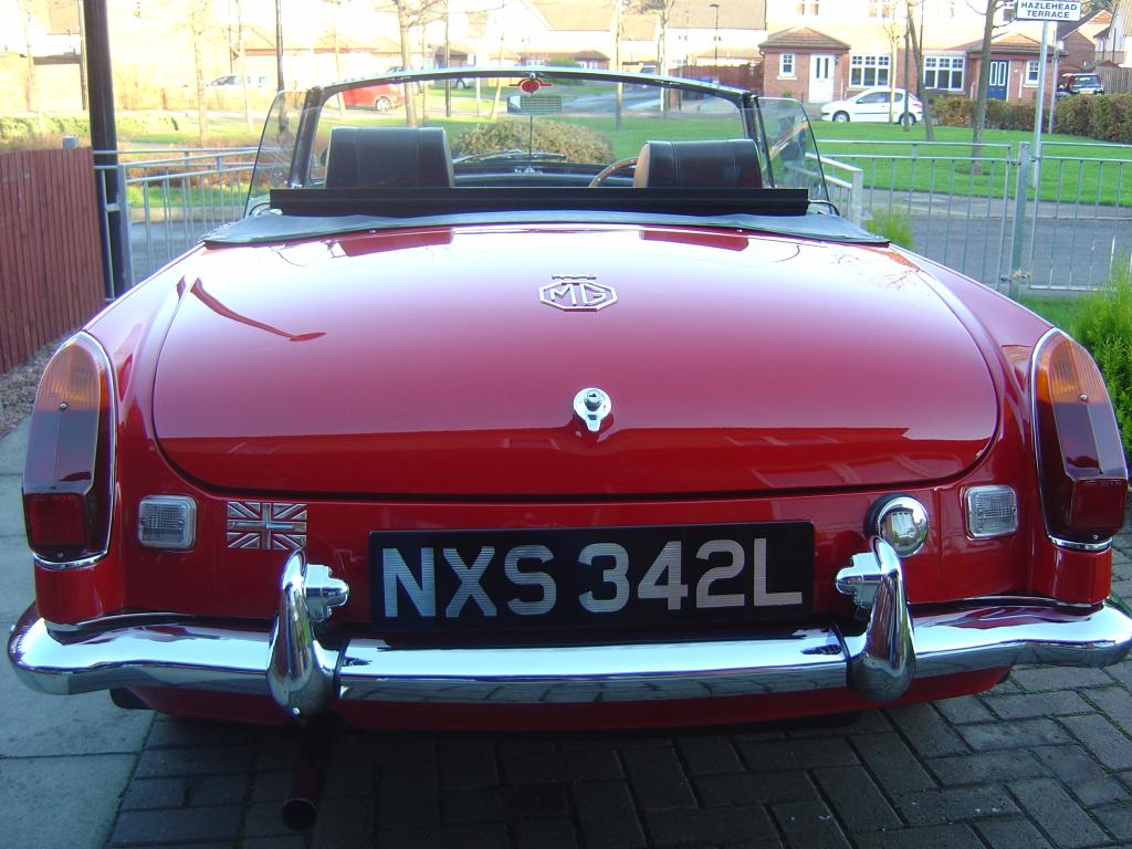 MY MGB CLEANED AND READY FOR SUMMER FUN!!