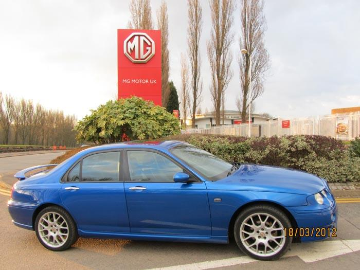 2002 MG ZT 2.5 V6picture taken outside the MG factory Longbridge