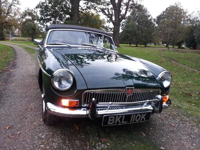 British Racing Green MGB Roadster BKL 110K