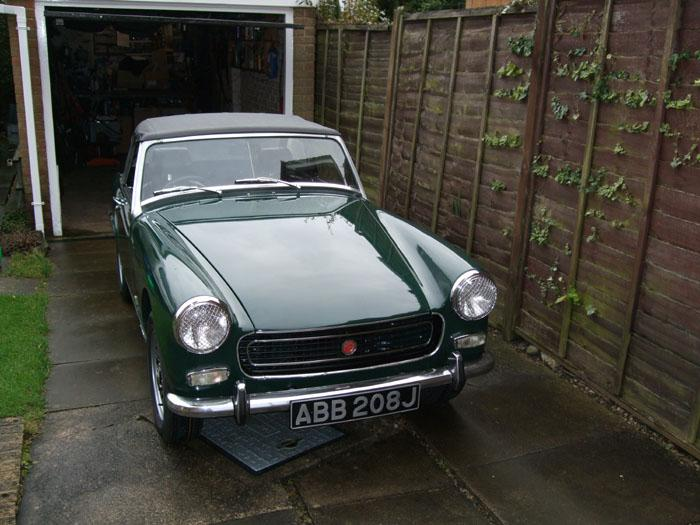 MG Midget finally finished after 3 yrs restoration carried out at home - all done by me