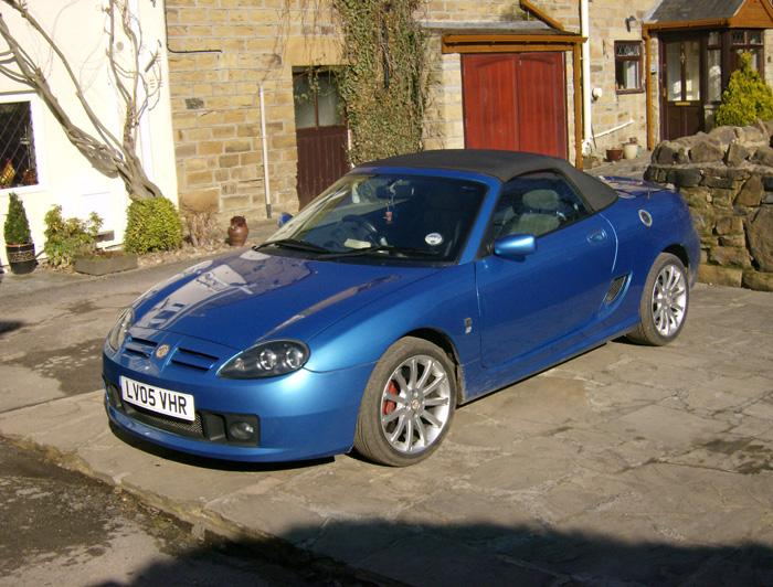 MG TF 160 Spark outside my house