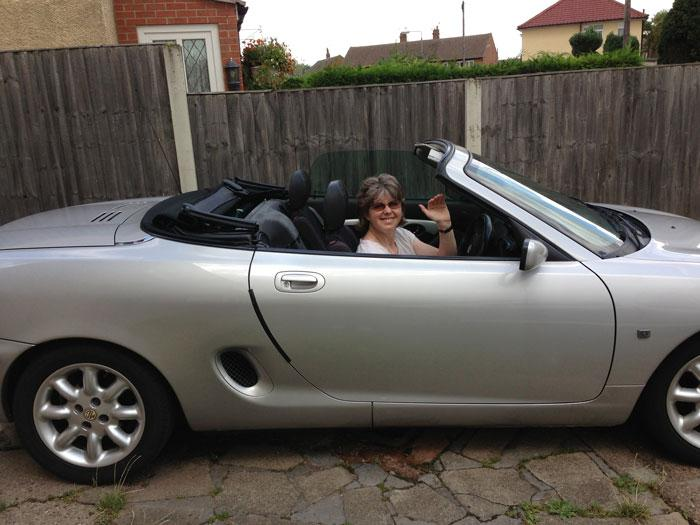 My wife going to visit her gran in Claypole  it's her first solo drive in my first MG