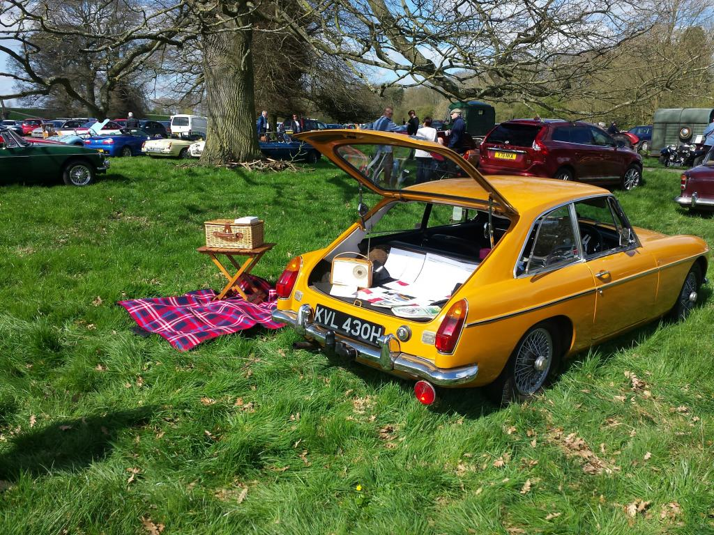 My MGB GT (Milly) 1970 at the Daffodil Run.