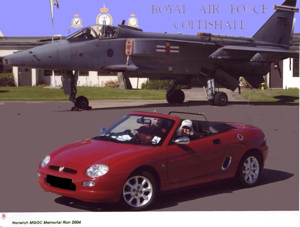My MGF on the Norwich MGOC Memorial Run 2004