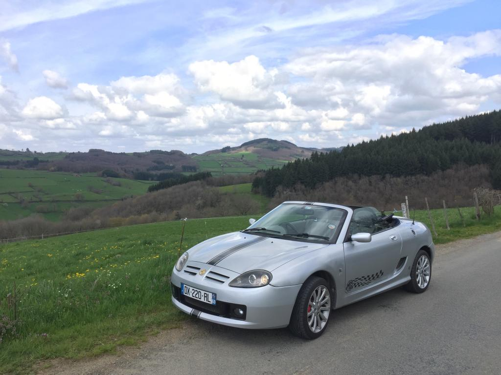 My MG in th french Beaujolais
