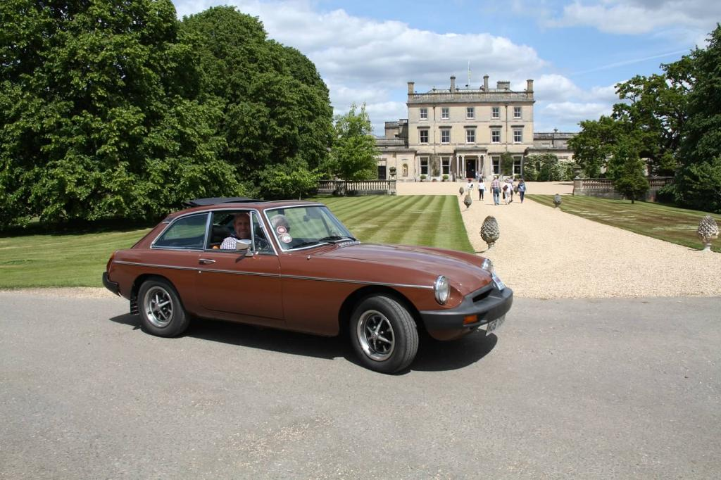 Martini arriving at Somerley House